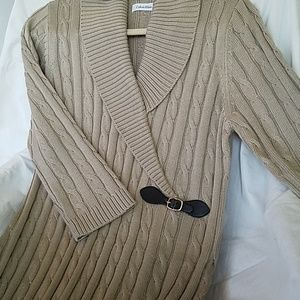 Tan Cable Knit Dress from Calvin Klein UNUSED